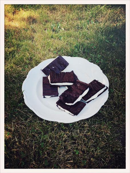Milchschnitte selbst gemacht, Milchschnitte vegan, Milchschnitte vegan Thermomix, Milchschnitte Kokosfett