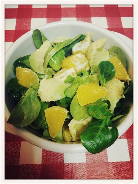 Feldsalat Orangen Avocado, Orangendressing Thermomix, Orangendressing vegan, Salatdressing vegan Thermomix