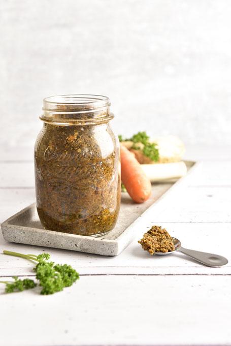 Gemüsebrühe, Gemüsebrühepaste, Gemüsebrühe selbstgemacht, Gemüsebrühe Thermomix, Vitam selbstgemacht