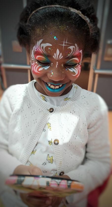 solenn minier face painting visage enfant maquillage fée étoile princesse