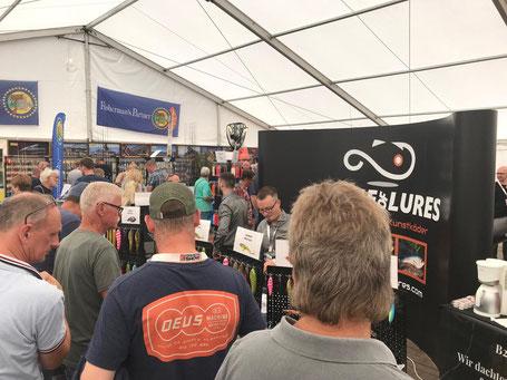 Voller Stand bei der Fishing Masters Show 2019 in Stralsund