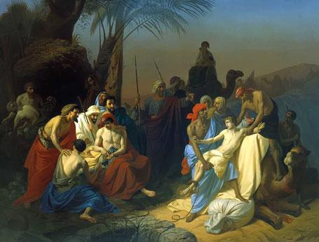 Joseph vendu par ses frères (Konstantin Flavitsky - 1855)