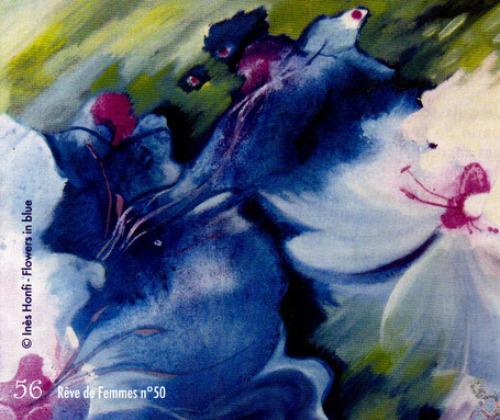 Inès Honfi - Flowers in blue