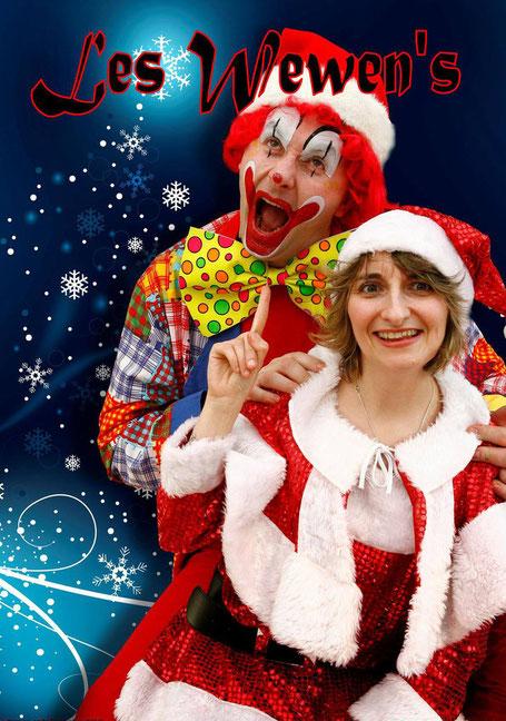 Duo de clown Les Wewen's pour vos spectacle de fin d'année