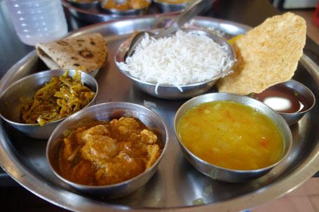 Thali del sur de India, nuestro preferido.