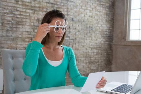 Augen Akkomodation, Nah-Fern Übung, Augenschule Buchheit, Augentraining