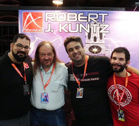 (L-R) Khaled, Rob Kuntz, Costas and Marios.