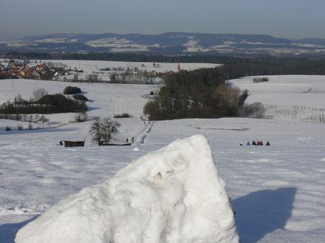 Blick von der Tauchersreuther Höhe