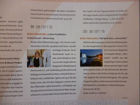bodo Magazin Artikel Aktionstag FairBleiben