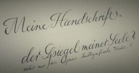 Handschrift und Kalligraphie