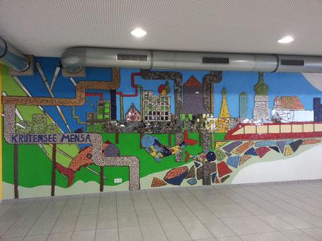 Mensa der Krötensee-Mittelschule 2016 - KUNST AM BAU MIT SCHÜLERN  Roswitha Farnsworth