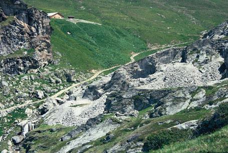 Bergbau im Schams, bei Zillis. Alp Taspin, Taspegn.