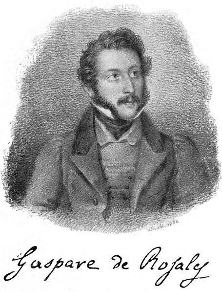 Gaspere Ordogno de Rosales, Sympatisant des italienischen Freiheitskampfes. Bergbau im Schams. Hochofen in Andeer.