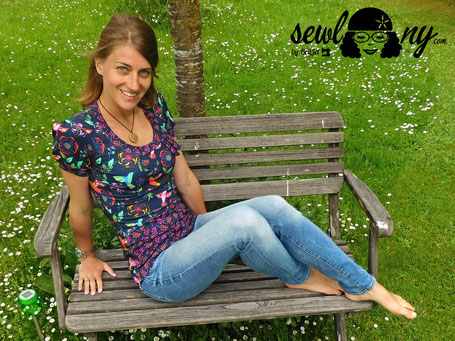 #Venla by Textilsucht - in Mum's beautiful garden