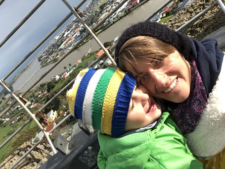 """Mom, I love you."" / Durie Hill - Whanganui - Sightseeing Mom&Son - July 2018"