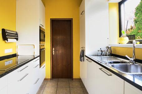 Aufnahme der Küche, das den Raum möglichst realitätsnah abbildet