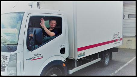 Livraison assurée par François Tavé en camion frigorifique