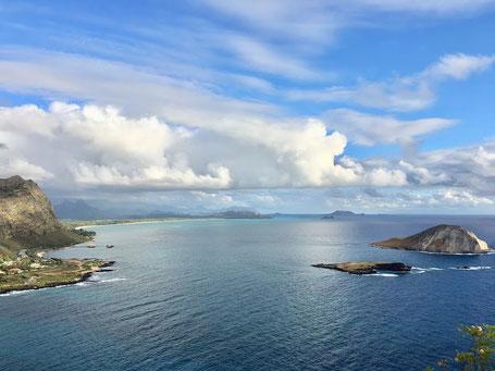 オアフ島マカプウポイントからの景色