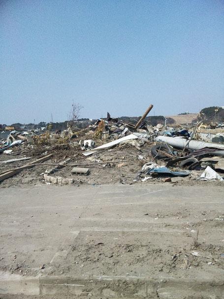 東日本大震災での瓦礫