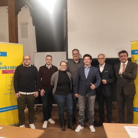 von links: Nils Landwehr, Christian Daut, Sonja Hirsch, Henrik Hanfgarn, Andreas Herse, Andreas Hanhart, Ralf Prattke, Wolfgang Schwake, Ingo Riedel