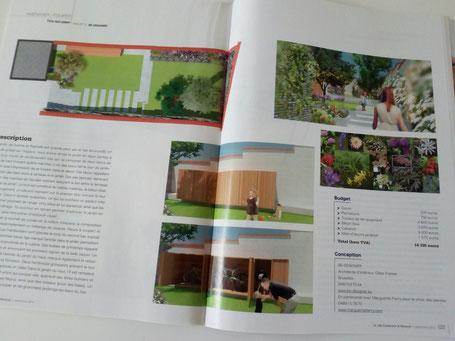 Page du Magazine Je vais construire de Septembre 2016 avec l'article sur ma création en collaboration avec Be Designer, architecte d'intérieur