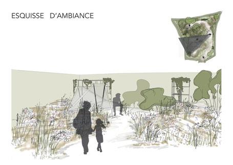 Esquisse d'ambiance - Jules Bongrand/ Marguerite Ferry - Festival international des jardins - Chaumont Sur Loire