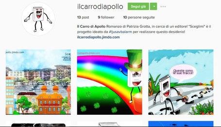 anteprima della pagina instagram del romanzo Il Carro di Apollo
