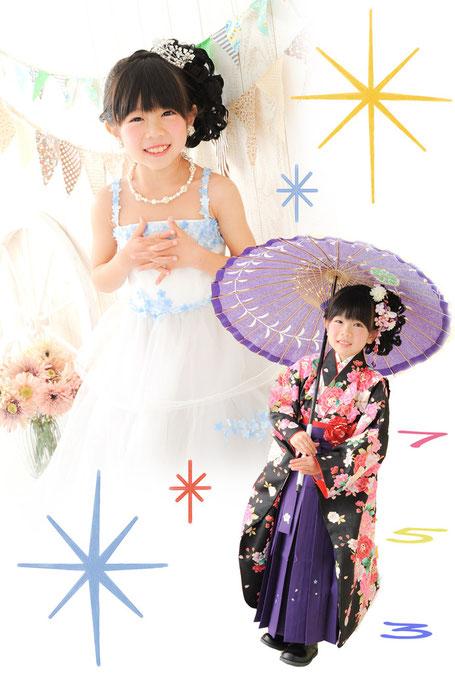 七五三 袴 ハイカラ ドレス 写真