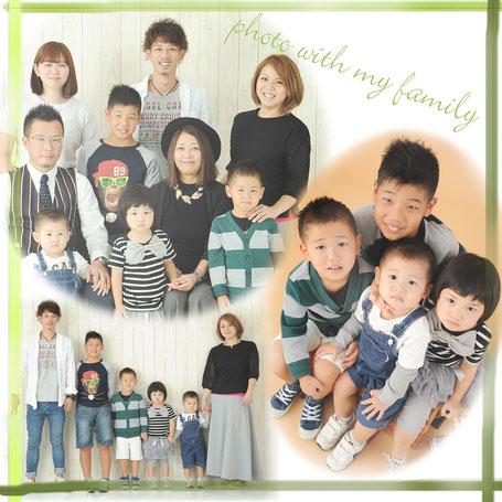 家族写真 大家族 敬老の日 写真 スタジオ 子供写真