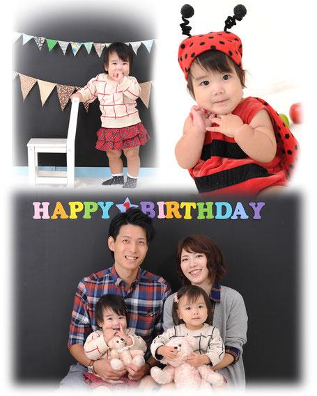 家族写真 1歳 誕生日 バースデーフォト