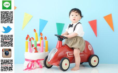 お宮参り、ハーフバースデー、1歳お誕生日写真