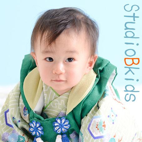 ベビー タイムスリップ写真 着物 誕生日 バースデーフォト