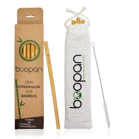 Boopan Bambustrinkhalme