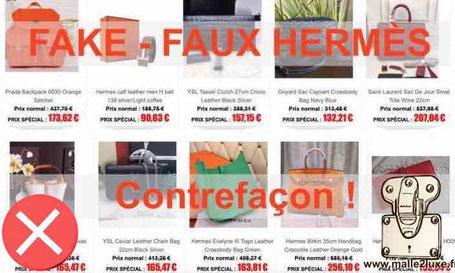 faux site contrefaçon hermes attention prix réduit