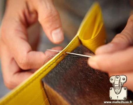 couture main point sellier art d'antan savoir faire français