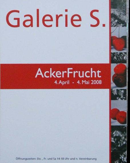 """Einladung """"Ackerfrucht"""" Galerie S Aachen"""