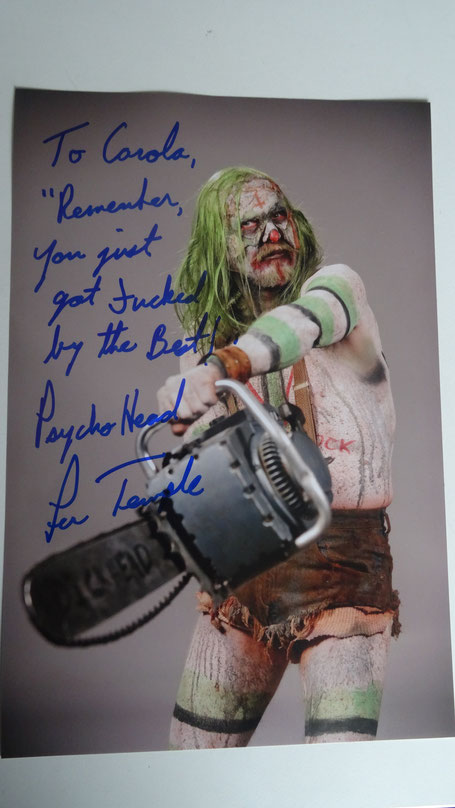 Autograph from Lew Temple at Weekend of Hell