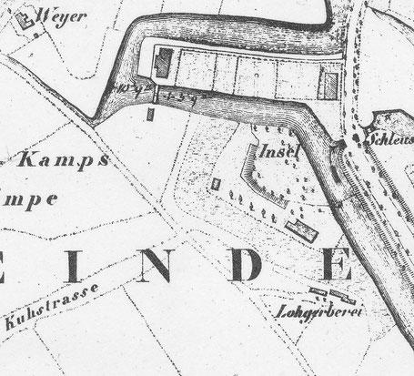 Ausschnitt aus Stadtplan von 1839 - 6222.284.15