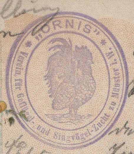 Stempel des Vereins auf einer Postkarte