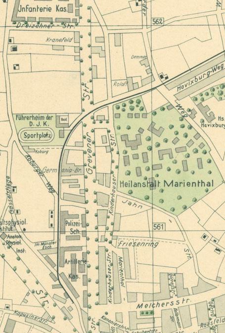 Ausschnitt Stadtplan 1931 - 6222.284.15