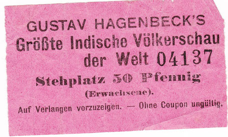 Eintrittskarte um 1910