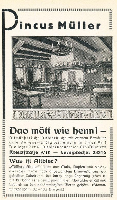 Werbung um 1925 - Sammlung Henning Stoffers