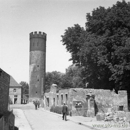 Der Buddenturm Ende der 1940er Jahre