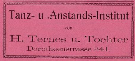 Werbeanzeige 1910