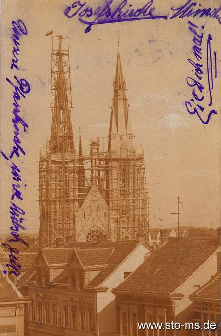 Richtfest am 9.1.1902: Unsere Pfarrkirche, wird hübsch, gell?