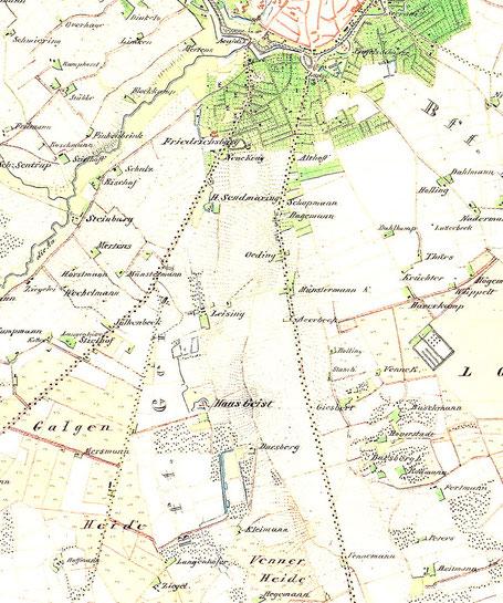 Kartenausschnit 1841