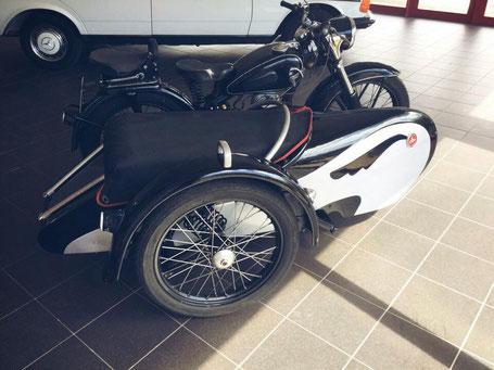 DKW mit Stoye Beiwagen