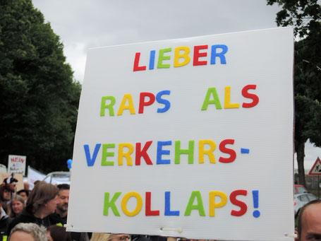 Demonstration Oberbillwerder Nein