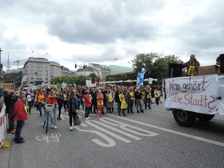 Demonstration in der Hamburger Innenstadt am 25. Mai 2019