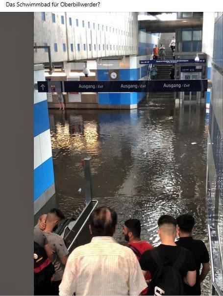 S-Bahn Allermöhe Uberschwemmung